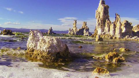 A traveling shot along the shores of Mono Lake in  Footage