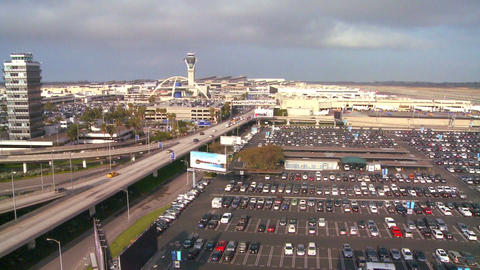 Wide establishing shot of Los Angeles Internationa Stock Video Footage