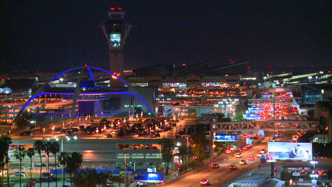 An overview of Los Angeles International airport a Footage