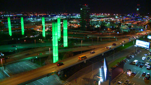 Beautiful time lapse of freeways and roads around  Footage