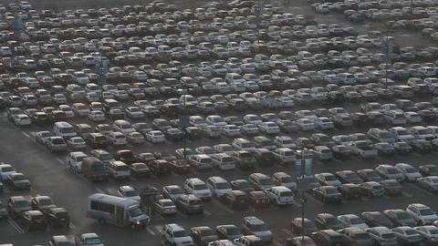 Thousands of cars in a crowded parking lot Footage