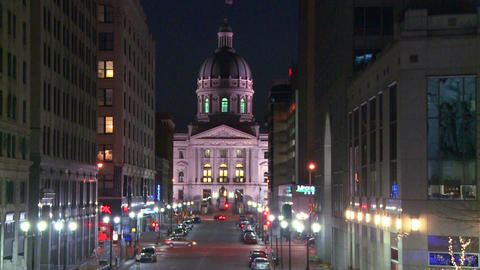 The Indiana state capital building in Indianapolis Footage