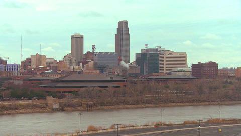 Omaha Nebraska skyline by day Stock Video Footage