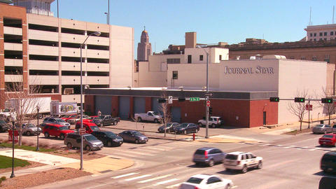 An establishing shot of Lincoln Nebraska Stock Video Footage