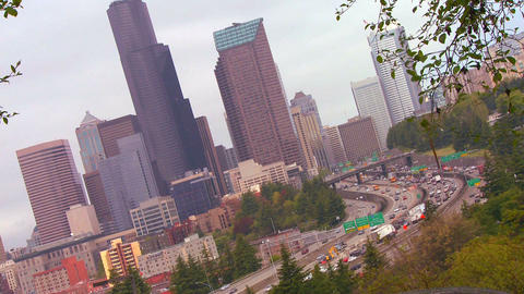 Time lapse shot of traffic moving ona freeway in S Stock Video Footage