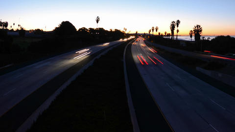 Wide angle Time lapse with motion of morning rush Stock Video Footage