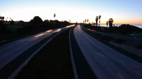 Wide angle Time lapse with motion of morning rush  Footage