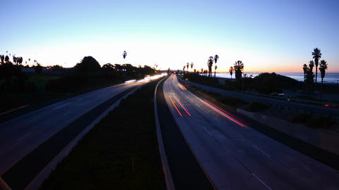 Wide angle Time lapse zooming in of morning rush h Footage