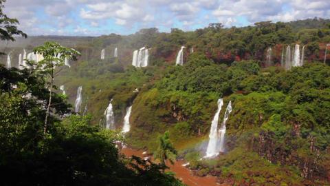 The beautiful Iguacu waterfall Stock Video Footage