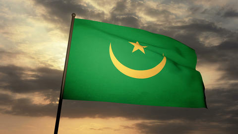 Flag Mauritania 03 Animation