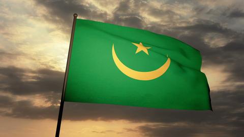 Flag Mauritania 03 Animation