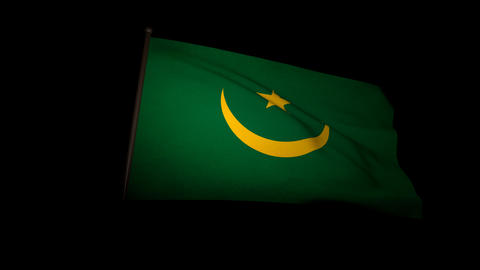 Flag Mauritania 01 Stock Video Footage