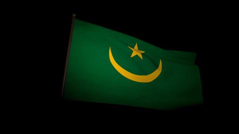 Flag Mauritania 01 Stock Video Footage