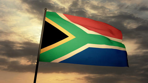 Flag South Africa 03 Animation