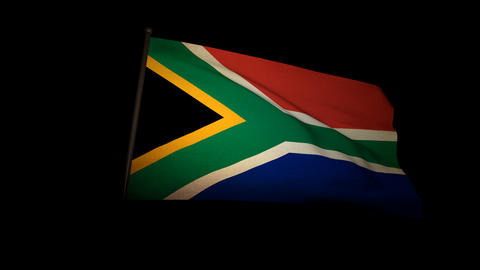 Flag South Africa 01 Stock Video Footage