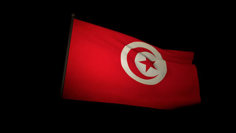 Flag Tunisia 01 Animation