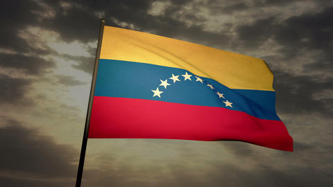 Flag Venezuela 03 Stock Video Footage