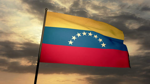 Flag Venezuela 03 Stock Video Footage