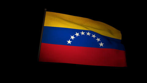 Flag Venezuela 01 Stock Video Footage
