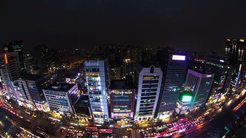 Seoul City 125 HD Stock Video Footage