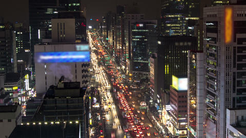 Seoul City 128 Zoom Stock Video Footage