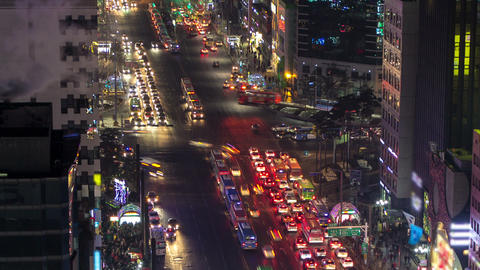 Seoul City 129 Zoom Stock Video Footage