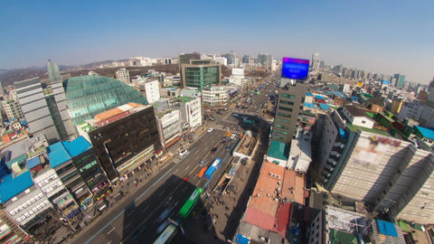 Seoul City 180 HD Stock Video Footage