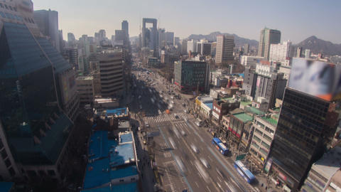 Seoul City 181 Zoom HD Stock Video Footage
