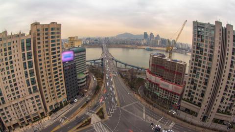 Seoul City 186 HD Stock Video Footage