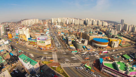 Seoul City 187 Zoom HD Stock Video Footage