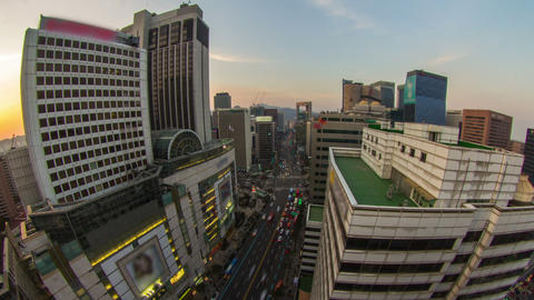 Seoul City 206 HD Stock Video Footage