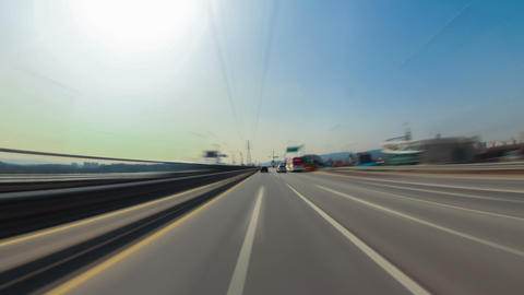 Seoul City Driving 1a HD Stock Video Footage