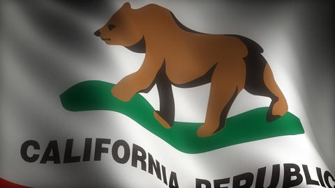 Flag of California Stock Video Footage
