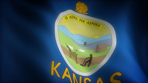 Flag of Kansas Animation