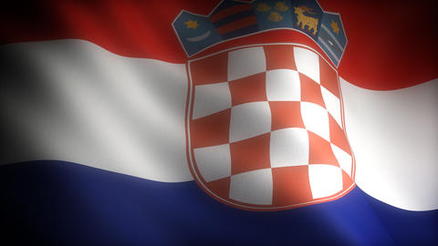 Flag of Croatia Stock Video Footage
