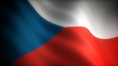 Flag of Czech Republic Stock Video Footage