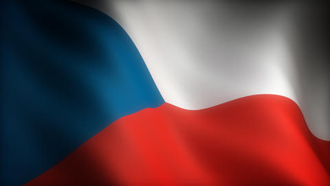Flag of Czech Republic Animation
