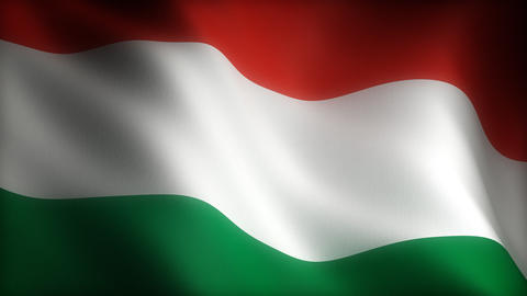 Flag of Hungary Animation