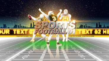 Sports Football stock footage