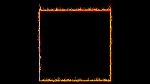 Fire frame loopable with alpha HD 1080 Animation