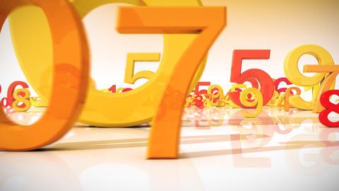 Numbers, HD 1080, Loop Stock Video Footage