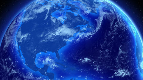 Spinning Earth. Global Business and Broadcast back Stock Video Footage