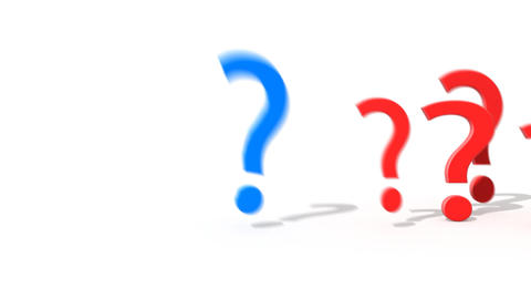Question mark jumping from the crowd of other ques Stock Video Footage