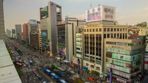 Seoul City 29 HD Stock Video Footage