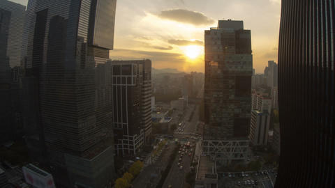 Seoul City 30 Zoom Stock Video Footage