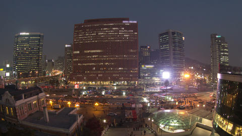 Seoul City 59 Zoom Stock Video Footage