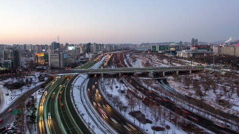 Seoul City 98 HD Stock Video Footage