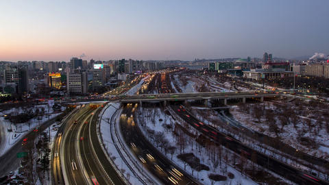 Seoul City 98 HD Stock Video Footage