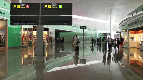 Barcelona Del Prat International Airport Catalonia Footage
