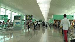 Barcelona Del Prat International Airport Catalonia Stock Video Footage
